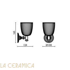 Cтакан для зубных щёток Bagno&Associati Aida AA142