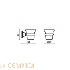 Cтакан для зубных щёток Bagno&Associati Canova CA142