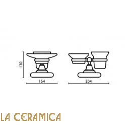 Cтакан для зубных щёток + мыльница Bagno&Associati Canova CA772