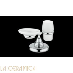 Cтакан для зубных щёток + мыльница Bagno&Associati Canova CA773