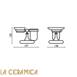 Cтакан для зубных щёток + мыльница Bagno&Associati Folie FS773