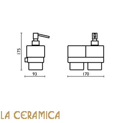 Cтакан для зубных щёток + дозатор для мыла Bagno&Associati Modulo MO158