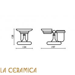 Cтакан для зубных щёток + мыльница Bagno&Associati Regency RE773