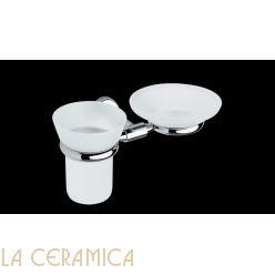 Cтакан для зубных щёток + мыльница Bagno&Associati Tecno TE144