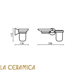 Cтакан для зубных щёток + мыльница Bagno&Associati Tempo TM144