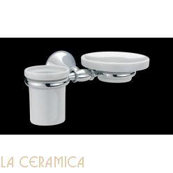 Cтакан для зубных щёток + мыльница Bagno&Associati Tempo TM152