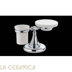 Cтакан для зубных щёток + мыльница Bagno&Associati Tempo TM772