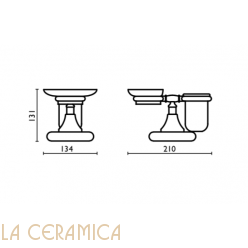 Cтакан для зубных щёток + мыльница Bagno&Associati Tempo TM773