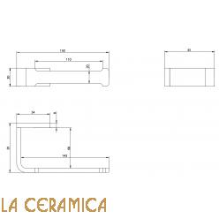 Держатель туалетной бумаги Bongio DOMINO 43009CRDA