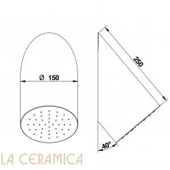 Верхний душ Bongio 00790CR