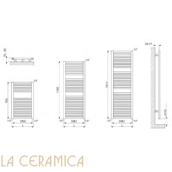 Полотенцесушитель электрический Cordivari Claudia Electric Analogic