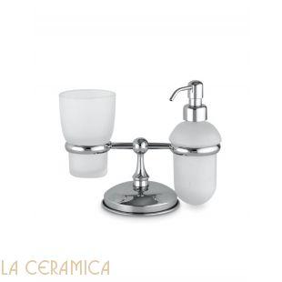 Дозатор для мыла + стакан для зубных щеток FLAB Luxe 179