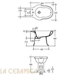 Биде GAIA Pompei PHPM03