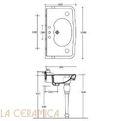 Раковина на ножках GAIA PHDV05