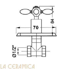 Запорный вентиль GAIA Ascott RN9960