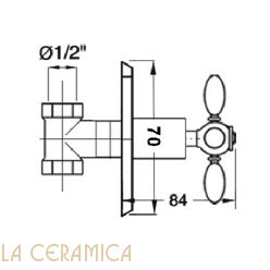 Запорный вентиль GAIA Chopin RN660