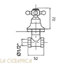 Запорный вентиль GAIA Julia RN8360