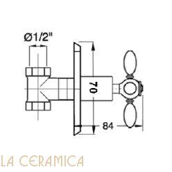 Запорный вентиль GAIA Queen RN760