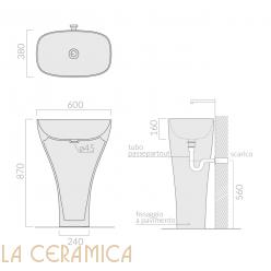 Дизайнерский напольный умывальник Galassia Dream 7304