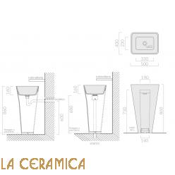 Дизайнерский напольный умывальник Galassia Meg11 5405P