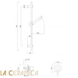 Душевой гарнитур Giulini Futuro 6515WS