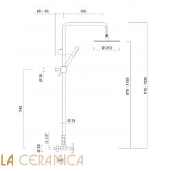 Душевой гарнитур Giulini G3 7607WC-S