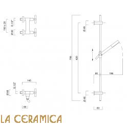 Душевой гарнитур Giulini G3 7607WS
