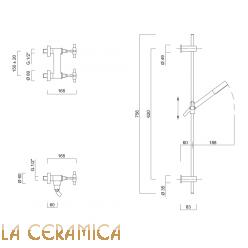 Душевой гарнитур Giulini G5 7907WS
