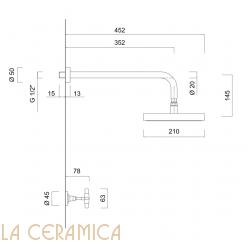 Душевой гарнитур Giulini G5 7915WB