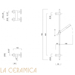 Душевой гарнитур Giulini Gio Crystals 3607W/S