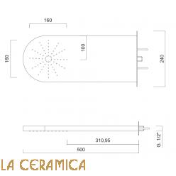 Верхний душ Giulini Surf 1613
