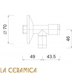 Вентиль под раковину Giulini Surf 3264L