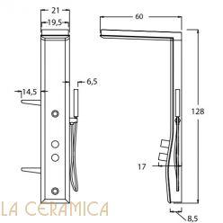Душевая колонна Hafro Geromin ETOILE 125 (Базовая)