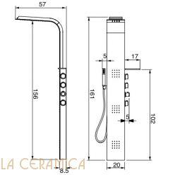 Душевая колонна Hafro Geromin LAMA Metallo
