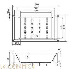 Ванна встроенная HAFRO GEROMIN Era Plus (прямоугольная) 200x120