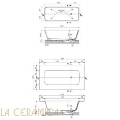 Ванна отдельностоящая HAFRO GEROMIN Move Tecnoril (прямоугольная)