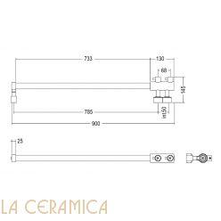 Полотенцесушитель Margaroli Arcobaleno 416/L