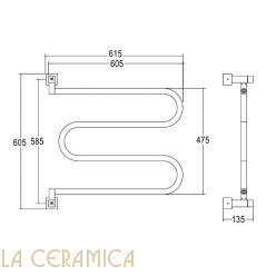 Полотенцесушитель Margaroli Aria 400/SQ