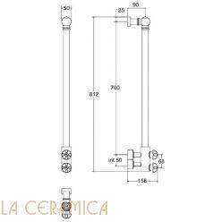Полотенцесушитель Margaroli Armonia 9-416 S