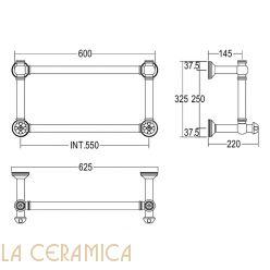 Полотенцесушитель Margaroli Armonia 9-442/2