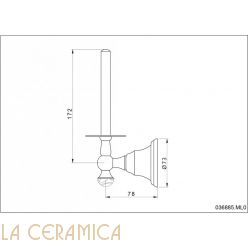 Держатель туалетной бумаги Mestre Atlantica Precious 036885.ML0.01