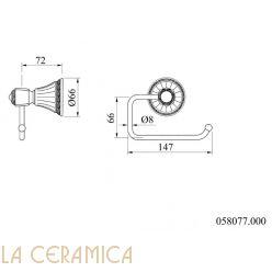 Держатель туалетной бумаги Mestre Adriatica 058077.000.62