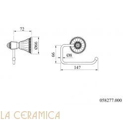 Держатель туалетной бумаги Mestre Adriatica 058277.000.50