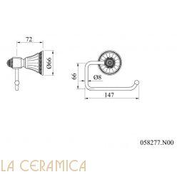Держатель туалетной бумаги Mestre Adriatica 058277.N00.01