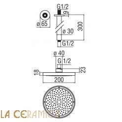 Душевая лейка TekNobili PLUS AD138/64CR, AD139/10CCR