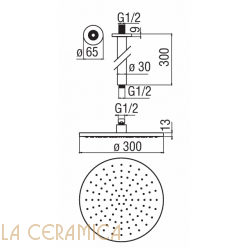 Душевая лейка TekNobili PLUS AD138/64CR, AD139/113CR