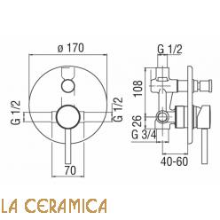 Встроенный смеситель TekNobili PLUS PL00100CR