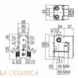 Встроенный смеситель TekNobili PLUS WE00102, PL00102CR