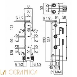 Встроенный смеситель TekNobili PLUS WE00103, PL00103CR