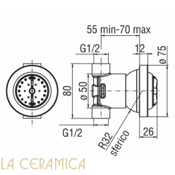 Боковая форсунка TekNobili WE00139/21CR